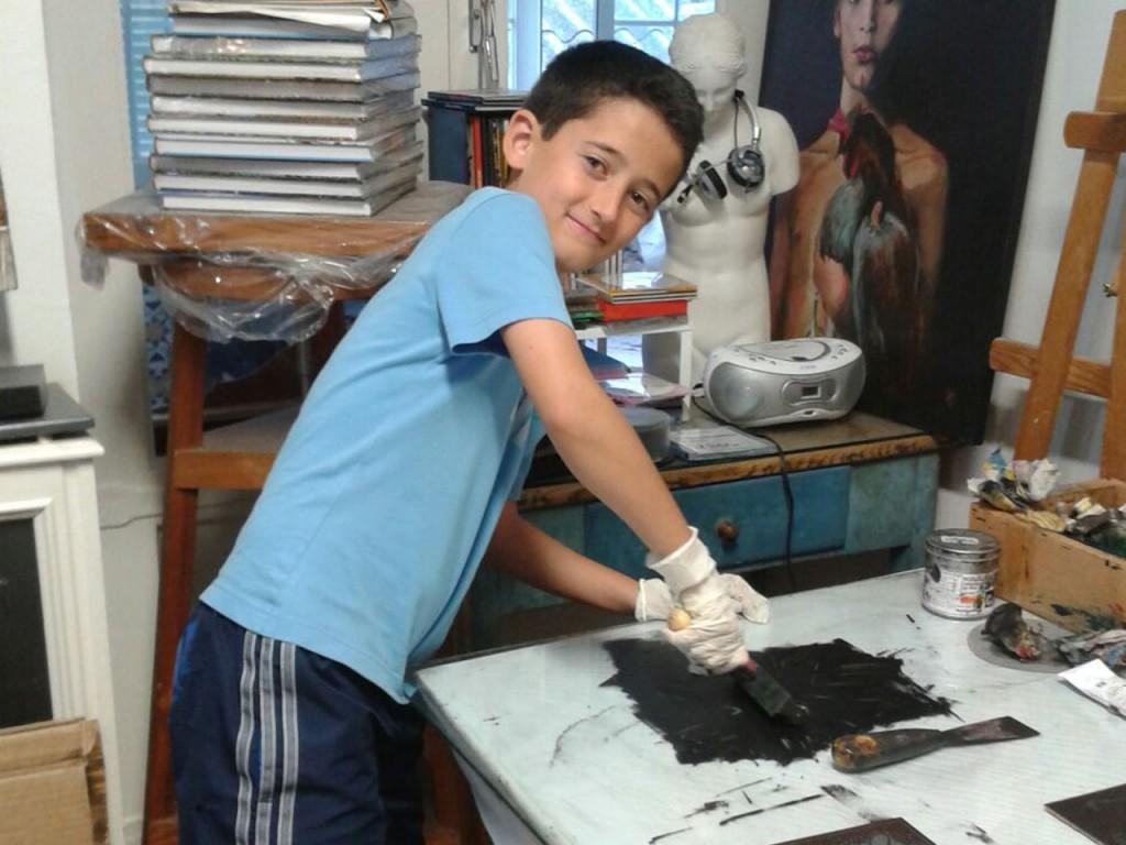 taller de grabado y estampacion infantil en huesca