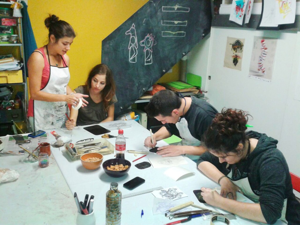 talleres y workshops de artes plasticas en huesca